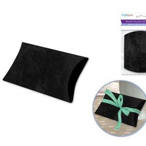 """4 Black Velvet Pillow Gift Box Treat Box 3.5""""x4.5"""""""
